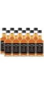 Jack Daniels Mini Tennessee Whiskey 40% 10 x 0.05 l